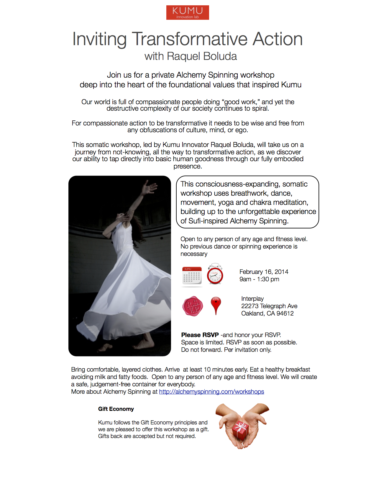 Inviting Transformative Action-Alchemy Spinning Workshop