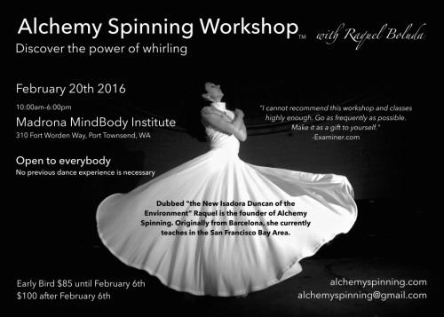 Alchemy Spinning Workshop in Port Townsend, WA