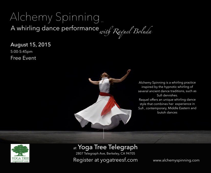 Improvisation Alchemy Spinning Dance Performance at Yoga Tree